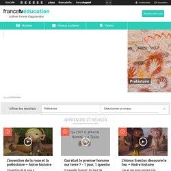 Préhistoire : vidéos répertoriées par niveau (France 5)