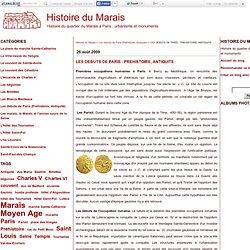LES DEBUTS DE PARIS : PREHISTOIRE, ANTIQUITE - Histoire du Marais