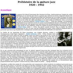 Préhistoire de la guitare jazz