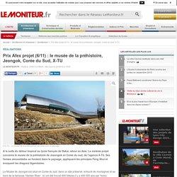 Prix Afex projet (6/11) : le musée de la préhistoire, Jeongok, Corée du Sud, X-TU - Réalisations