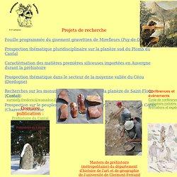 Préhistoire - Site de recherche de F. Surmely
