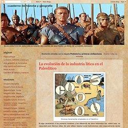 cuaderno de historia y geografía: Prehistoria y primeras civilizaciones