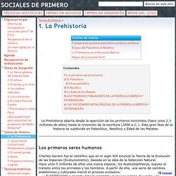 1. La Prehistoria - SOCIALES DE PRIMERO