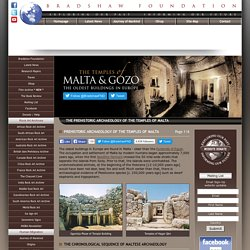 The Prehistoric Archaeology of the Temples of Malta