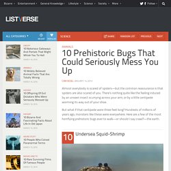 10 Prehistoric Bugs That Could Seriously Mess You Up