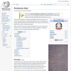 Prehistoric Italy