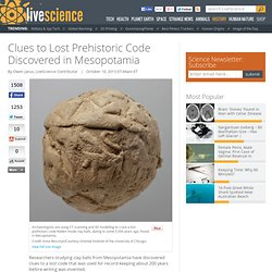 Clues to Lost Prehistoric Code Discovered in Mesopotamia
