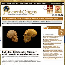 Prehistoric teeth found in China may point to mysterious new human species