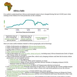 Africa Info last 20,000 years
