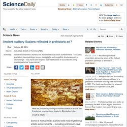 Ancient auditory illusions reflected in prehistoric art?
