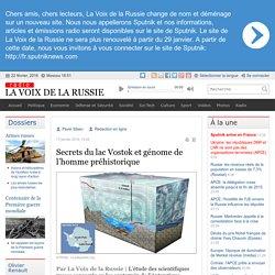 lac Vostok, génome préhistorique