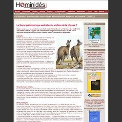 Chasse préhistorique en Australie : extinction d'espèce ?