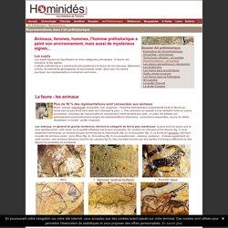 Art préhistorique - Représentations - Animaux - Humains - Signes - Tracés digitaux