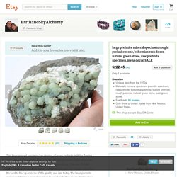 large prehnite mineral specimen rough by EarthandSkyAlchemy