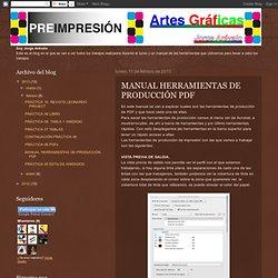 Preimpresion Artes Gráficas: MANUAL HERRAMIENTAS DE PRODUCCIÓN PDF