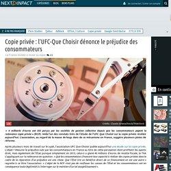 Copie privée : l'UFC-Que Choisir dénonce le préjudice des consommateurs