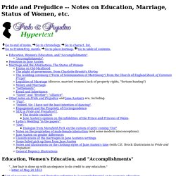Notes on Education, Marriage, Status of Women, etc.