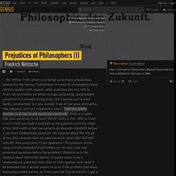Friedrich Nietzsche – Prejudices of Philosophers (I)