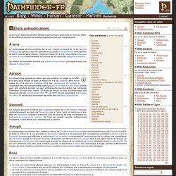 États préjudiciables - Wikis Pathfinder-fr
