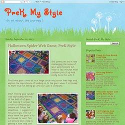 PreK, My Style: Halloween Spider Web Game, PreK Style