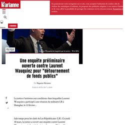 """Une enquête préliminaire ouverte contre Laurent Wauquiez pour """"détournement de fonds publics"""""""