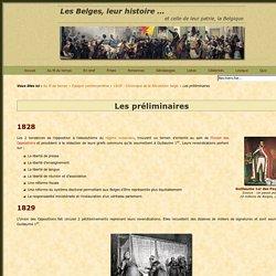 Les préliminaires de la Révolution belge de 1830