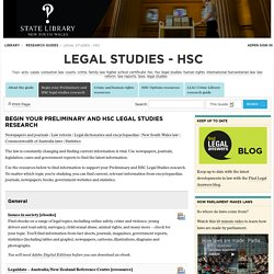 Begin your Preliminary and HSC legal studies research - Legal Studies - HSC - Research guides at State Library of New South Wales