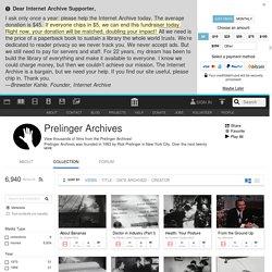Archives Prelinger / Internet Archive