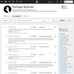 Prelinger Archives : Free Movies : Download & Streaming : Internet Archive