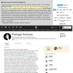 Prelinger Archives : Free Movies : Free Download, Borrow and Streaming