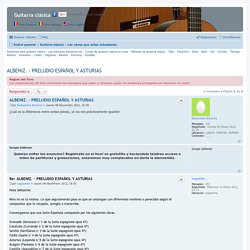 ALBENIZ. - PRELUDIO ESPAÑOL Y ASTURIAS - Guitarra clásica