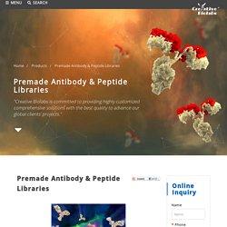 Premade Antibody & Peptide Libraries