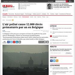 L'air pollué cause 12.000 décès prématurés par an en Belgique - Environnement