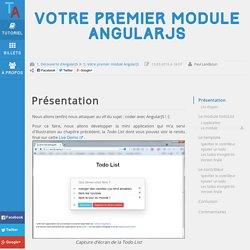 Votre premier module AngularJS