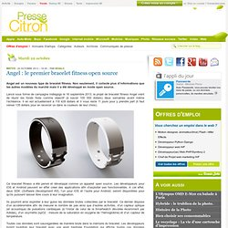 Angel : le premier bracelet fitness open source