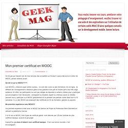 Mon premier certificat en MOOC
