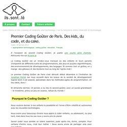 Premier Coding Goûter de Paris. Des kids, du code, et du cake.