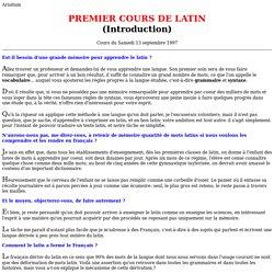 Premier cours de latin