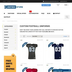 Premier Custom Football Team Uniforms