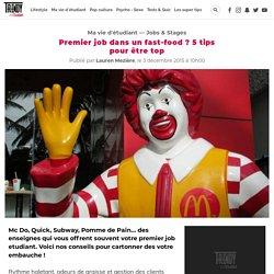 Premier job dans un fast-food ? 5 tips pour être top
