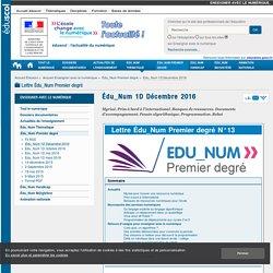 Programmation & robotique ds la Lettre Édu_Num 1er degré N°13