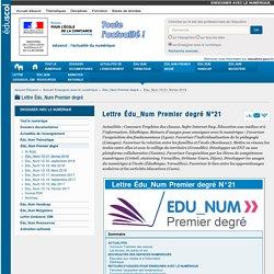 Lettre Édu_Num Premier degré N°21