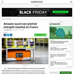 Amazon ouvre son premier entrepôt robotisé en France