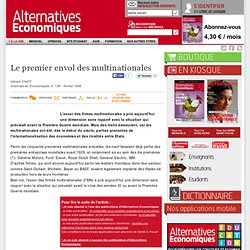 Le premier envol des multinationales