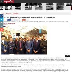 Le Maroc, premier exportateur de véhicules dans la zone MENA
