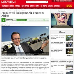 Premier vol écolo pour Air France et Airbus - 14/10/2011