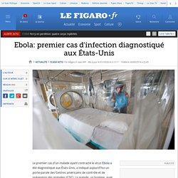 Ebola: premier cas d'infection diagnostiqué aux États-Unis