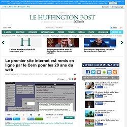 Le premier site internet est remis en ligne par le Cern pour les 20 ans du web