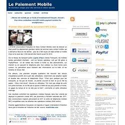 Premier bilan positif du lancement NFC à Nice
