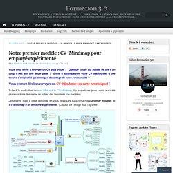Notre premier modèle : CV-Mindmap pour employé expérimenté